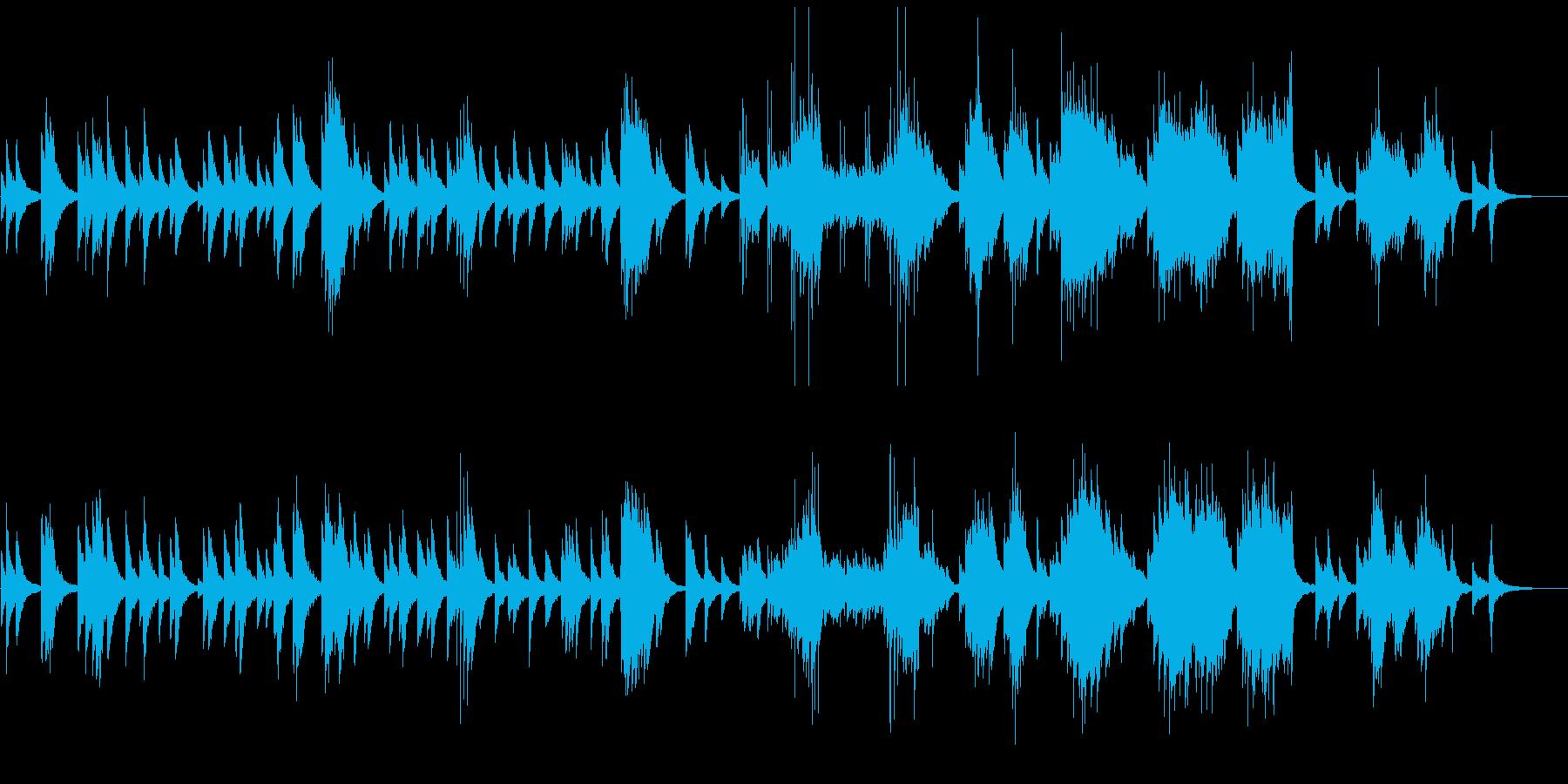 しっとりとしたピアノリラクゼーションの再生済みの波形