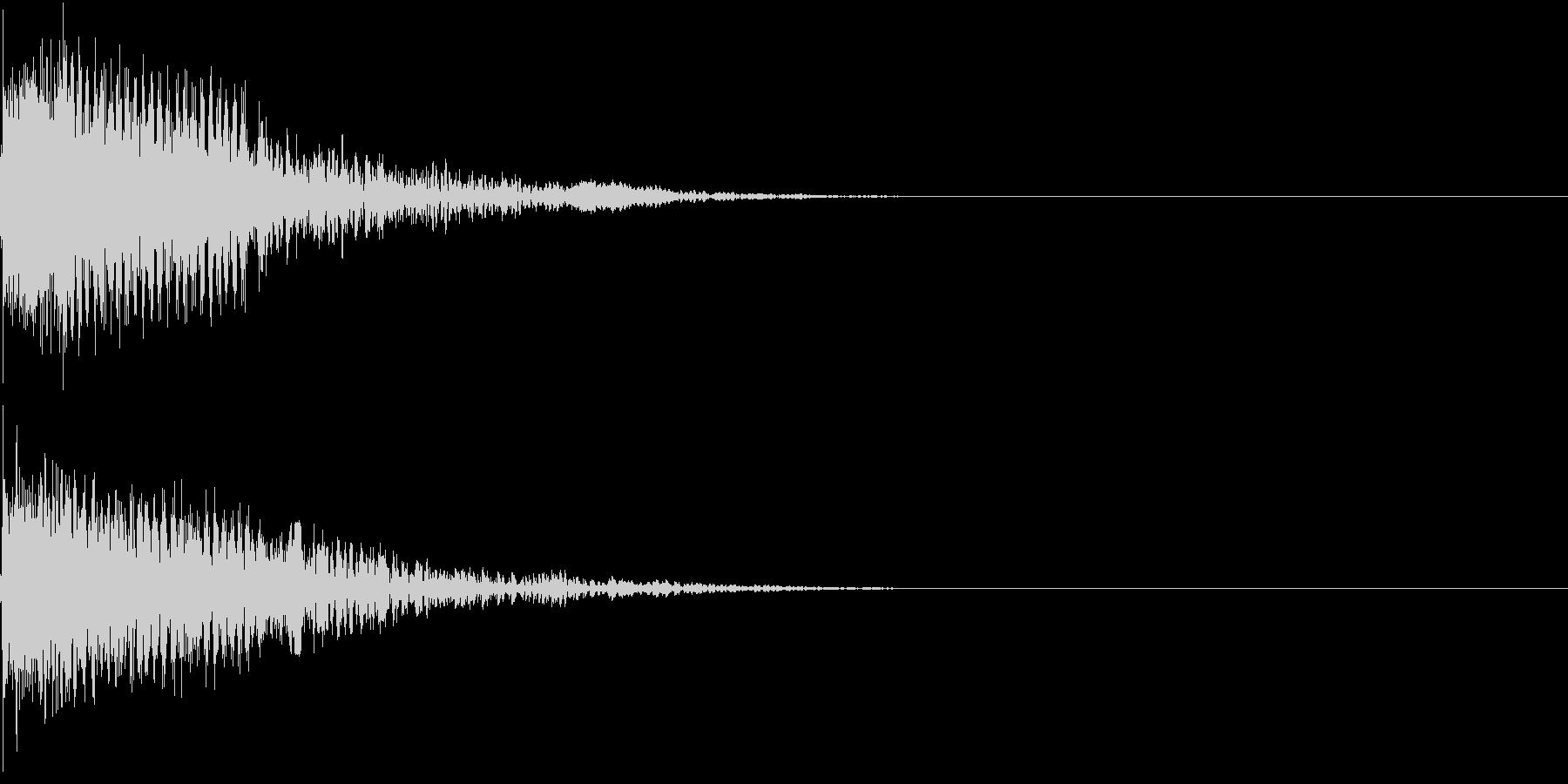 衝撃 金属音 恐怖 震撼 ホラー 08の未再生の波形