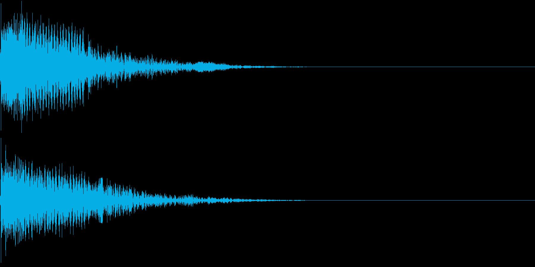 衝撃 金属音 恐怖 震撼 ホラー 08の再生済みの波形
