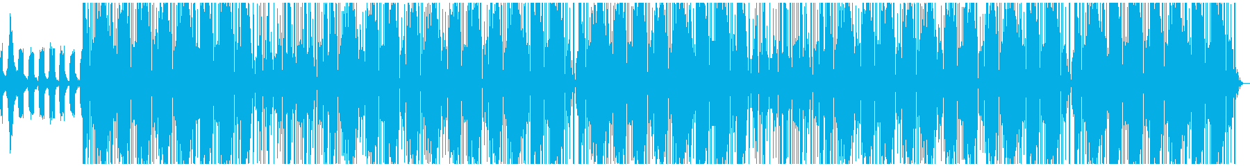 優しい重低音トラップビートの再生済みの波形