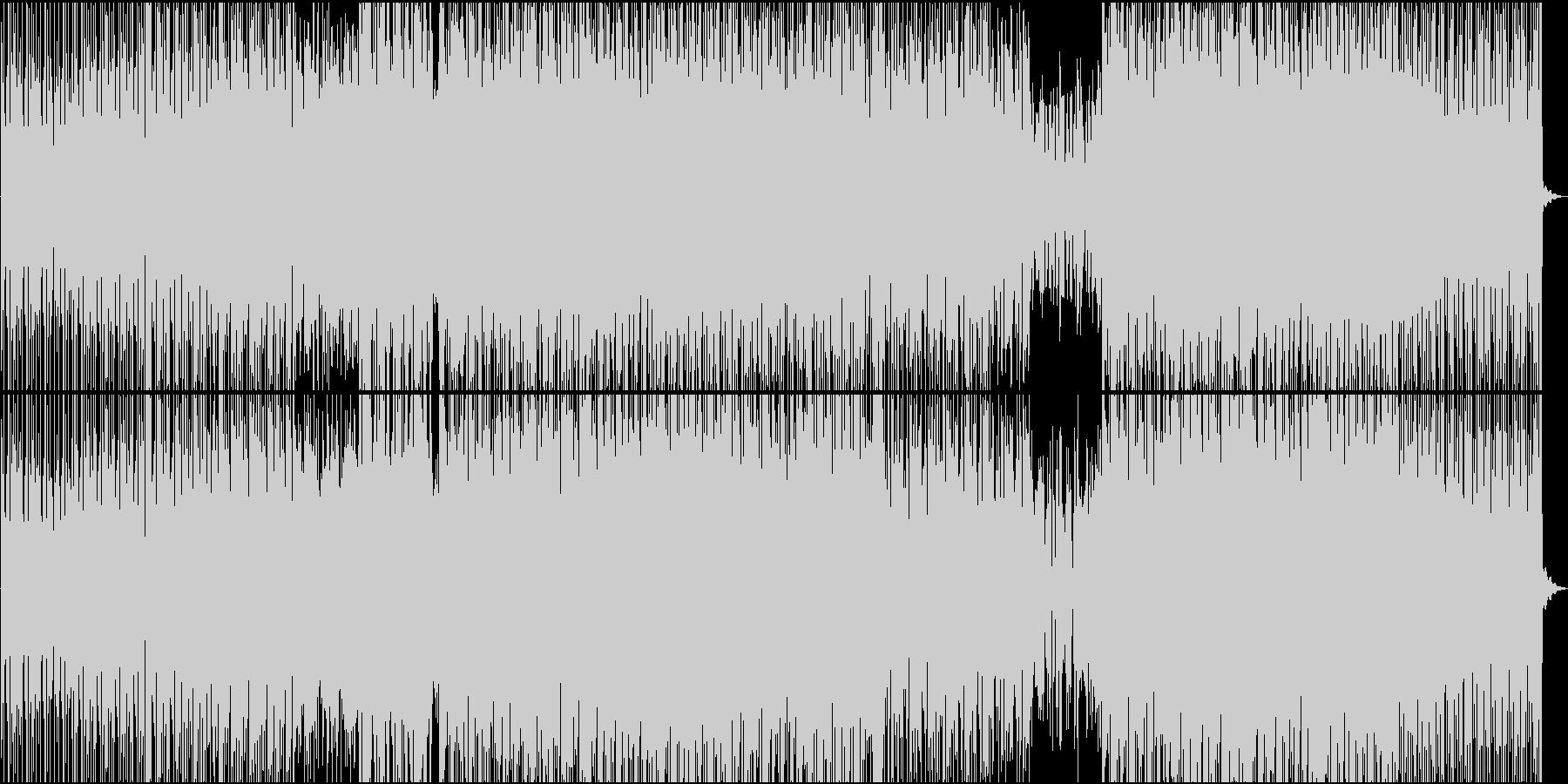 エネルギッシュなハードシンセの未再生の波形