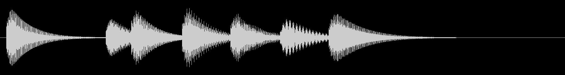 少し不器用な可愛いサウンドのマリンバの未再生の波形
