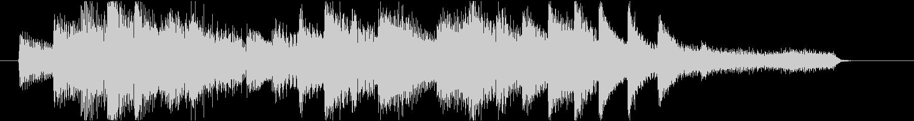 悲しい雰囲気のピアノジングルの未再生の波形