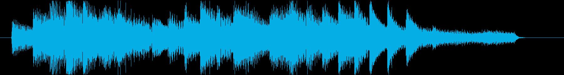 悲しい雰囲気のピアノジングルの再生済みの波形