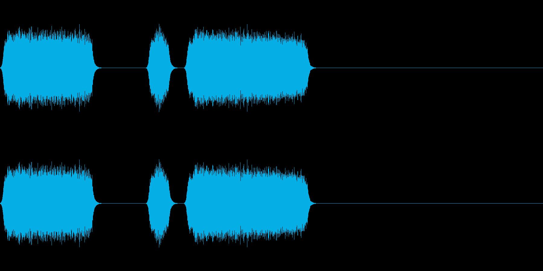 修理や製造のシーンにの再生済みの波形