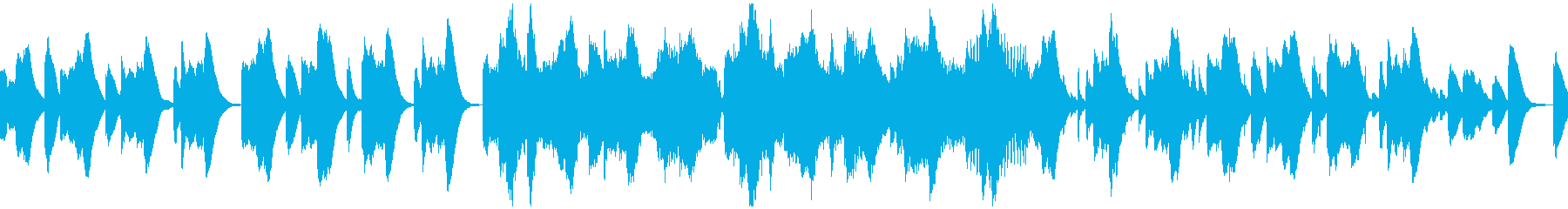 鉄琴ベースの懐かしい雰囲気ループBGMの再生済みの波形