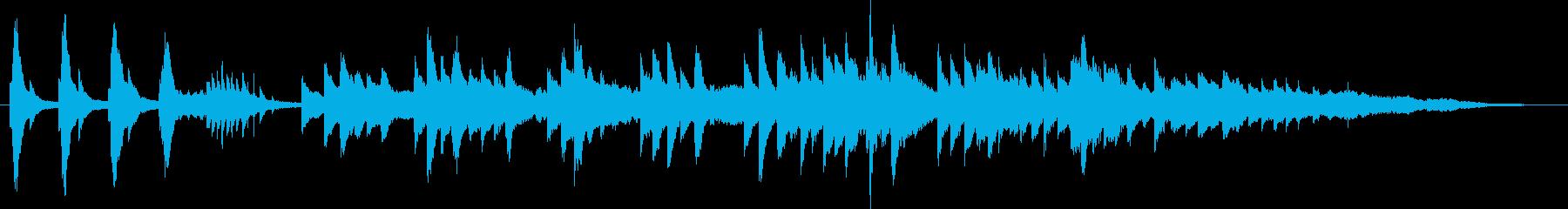 ピアノをメインにした楽曲の再生済みの波形