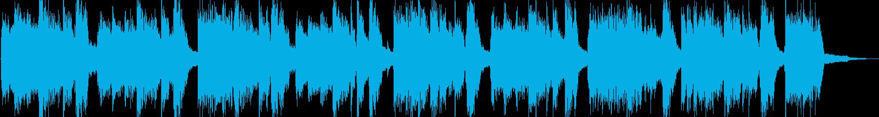 特徴的なリズムのロックジングルの再生済みの波形