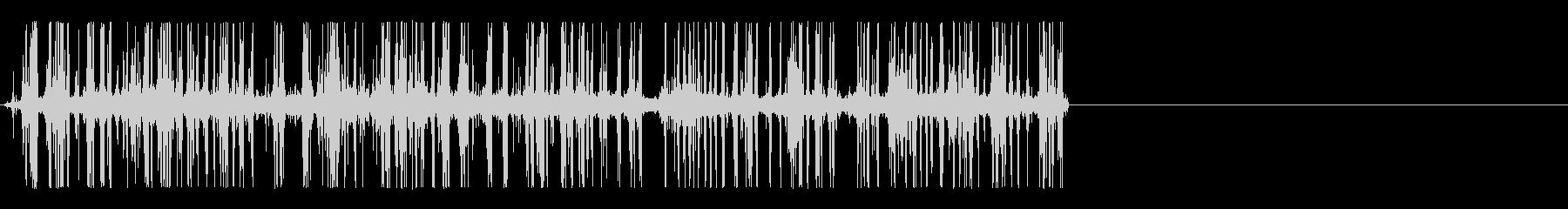 ページを流し読みする音(ペラララララ)の未再生の波形