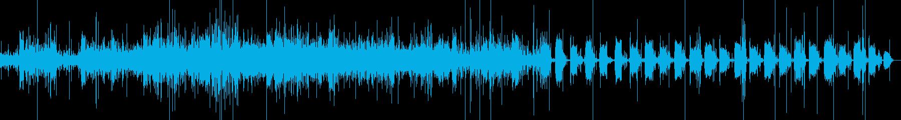 ぴちょぴちょ…ガガ、ガガ洗濯機が回る音の再生済みの波形