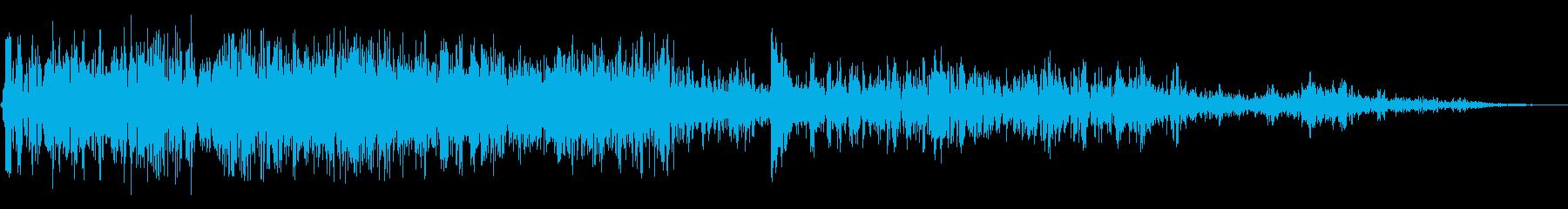 大規模な爆発ヴィンテージ録音;爆発と爆弾の再生済みの波形