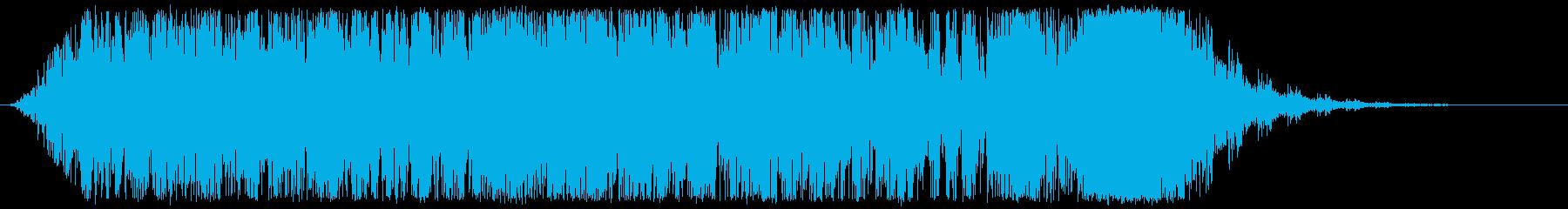 花火ロケットの再生済みの波形