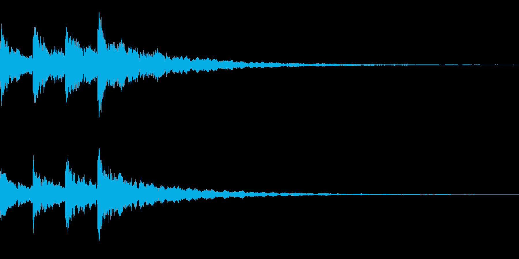 ピンポンパンポーン(シンセベルの音で)の再生済みの波形