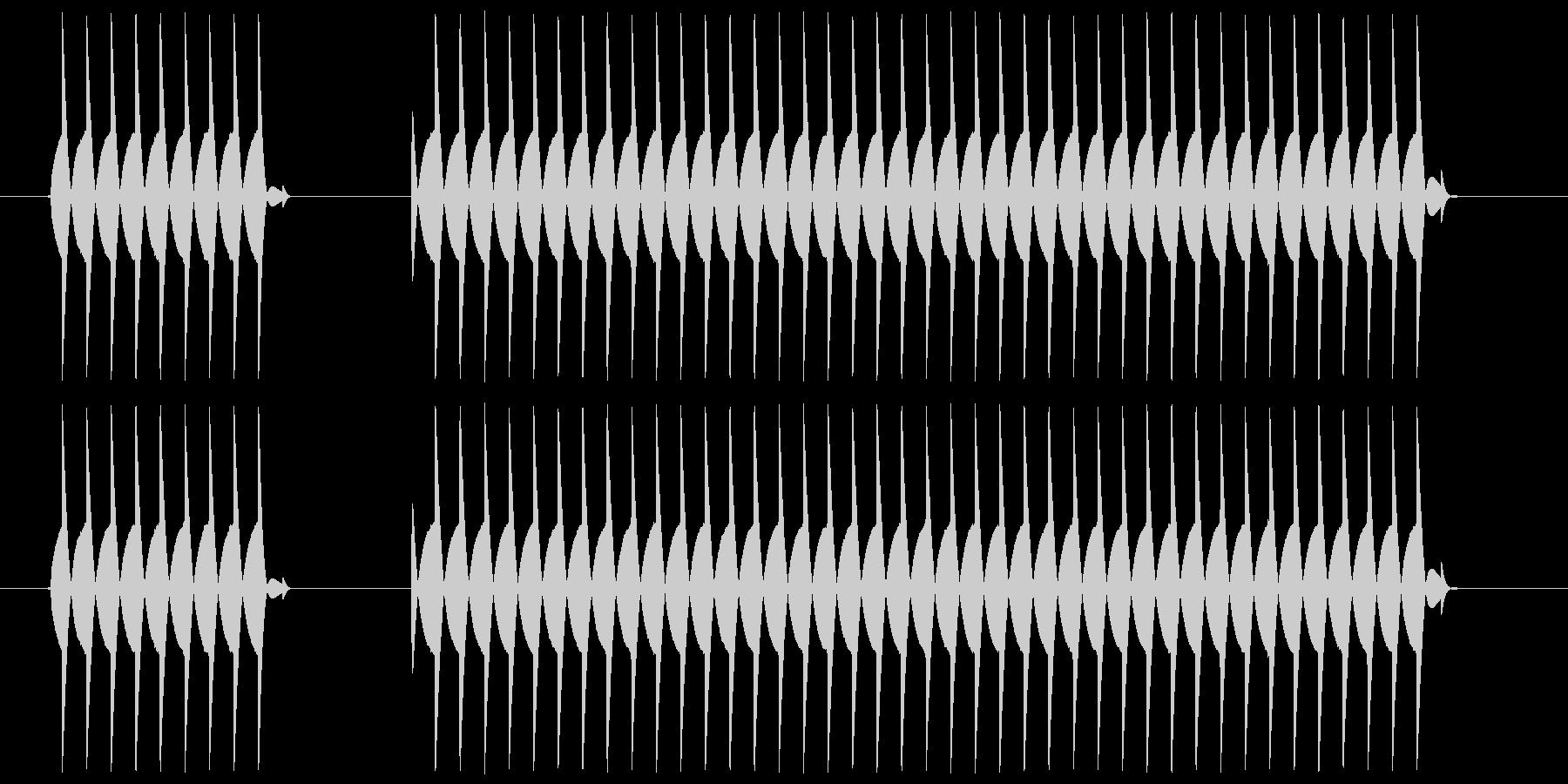 ブブー、というクイズの不正解音ですの未再生の波形