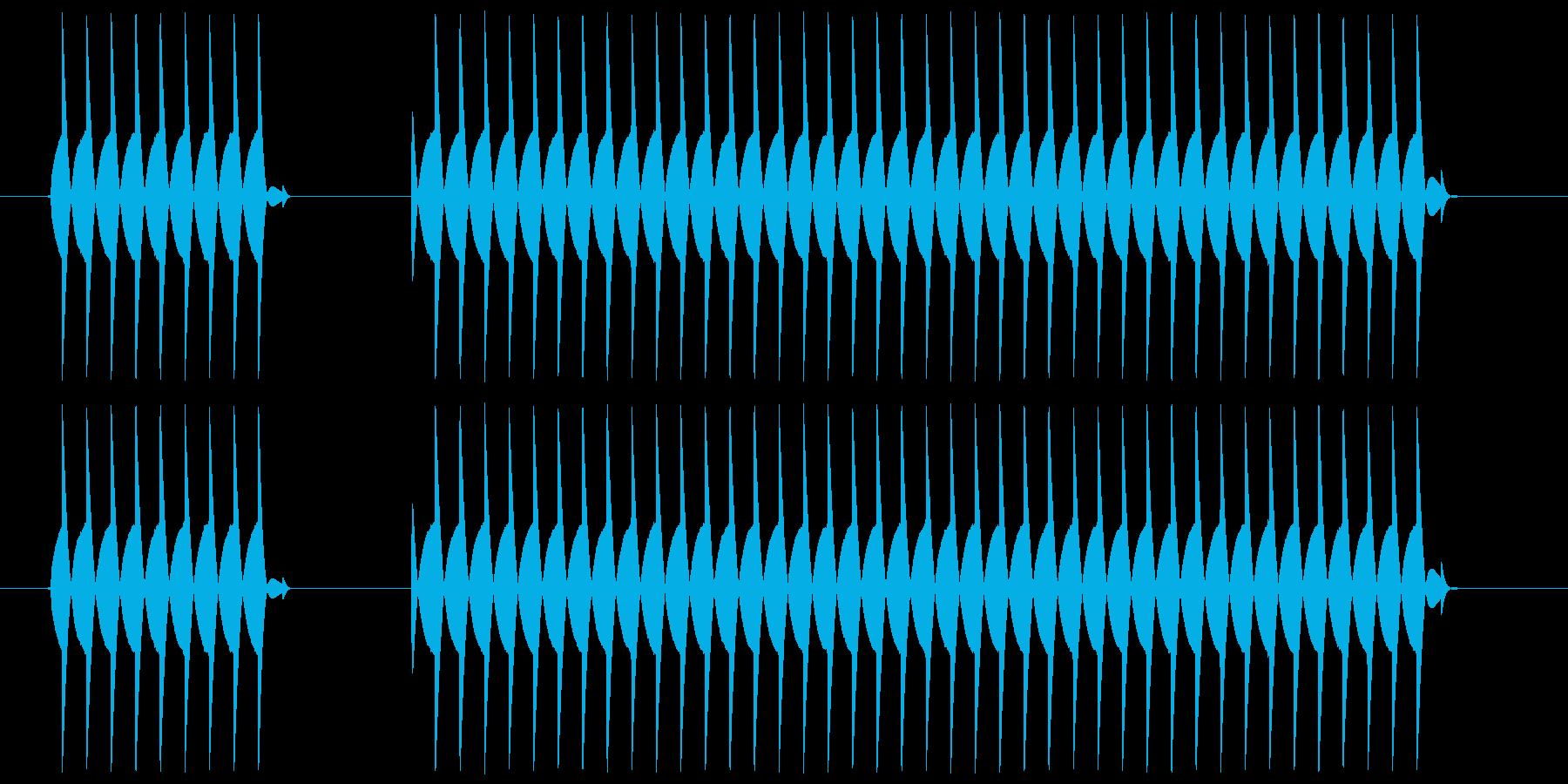 ブブー、というクイズの不正解音ですの再生済みの波形