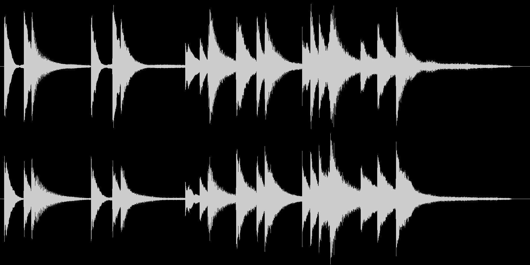 透明感のあるピアノ・ソロ曲の未再生の波形