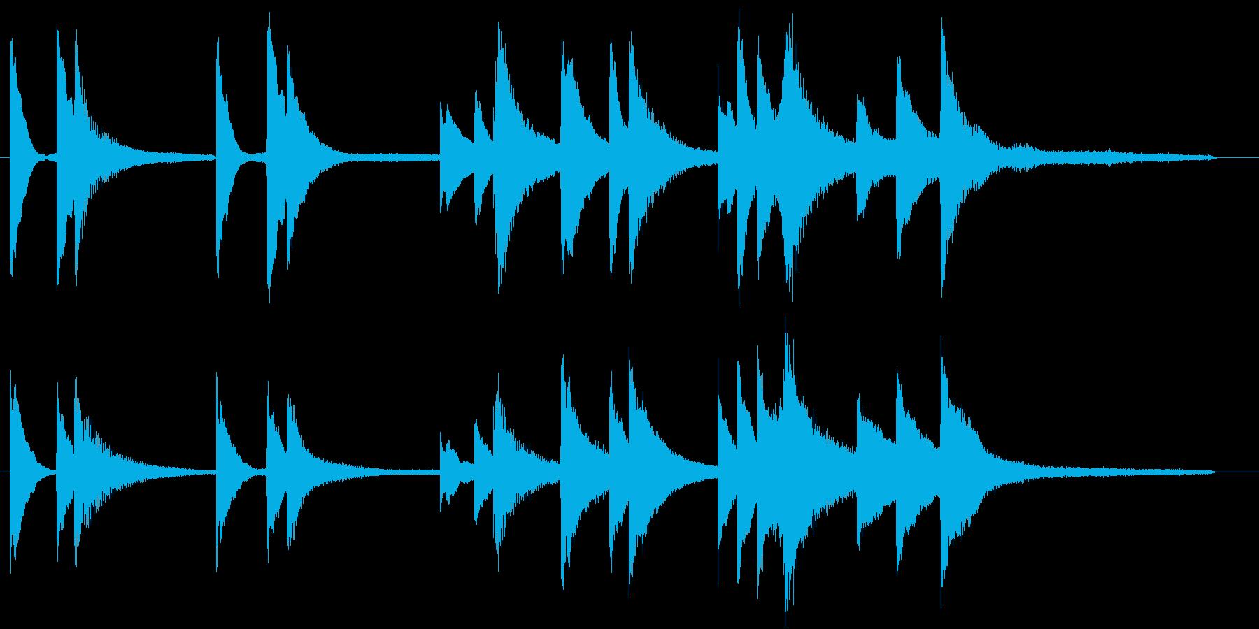 透明感のあるピアノ・ソロ曲の再生済みの波形