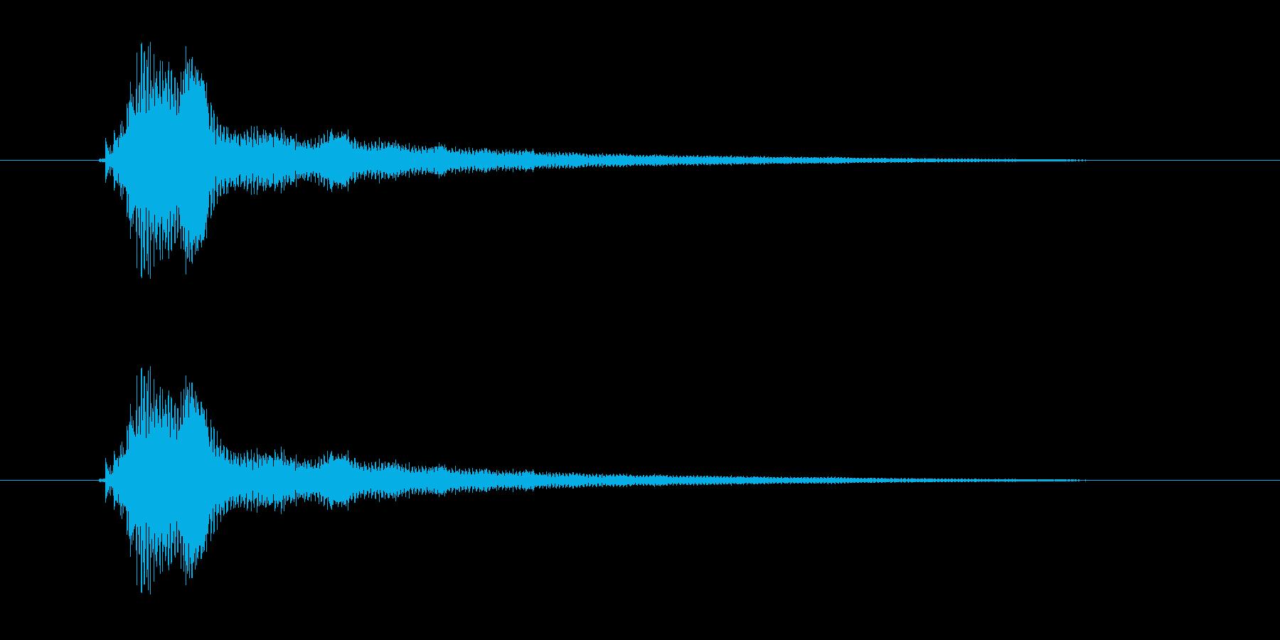 ファンファンファ?ン(残念、失敗)の再生済みの波形