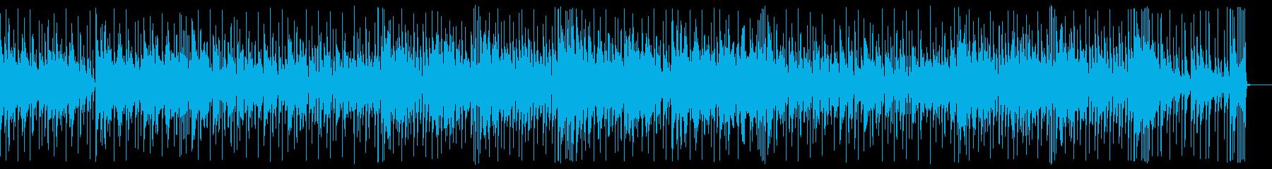 切なくて気だるい感じのBGMの再生済みの波形