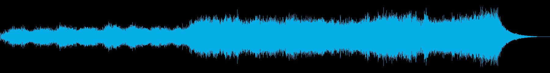 優しく静かなゆったりしたヒーリングBGMの再生済みの波形