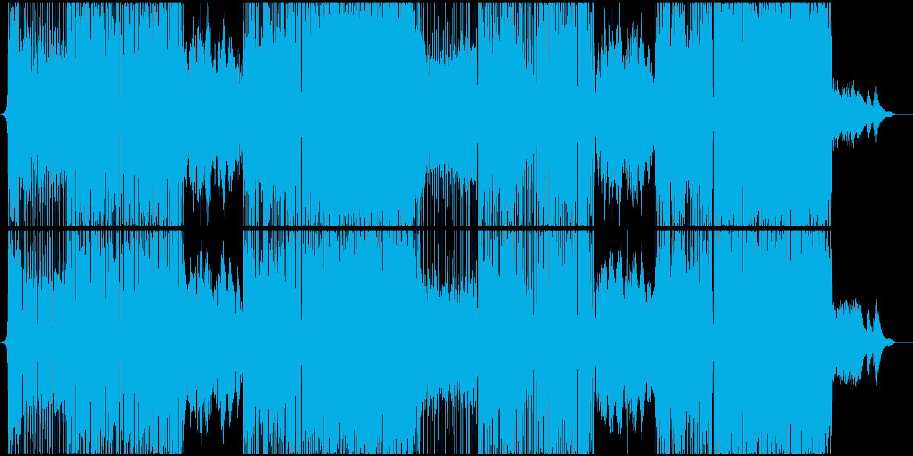 【熱血】疾走感エレクトロRockの再生済みの波形