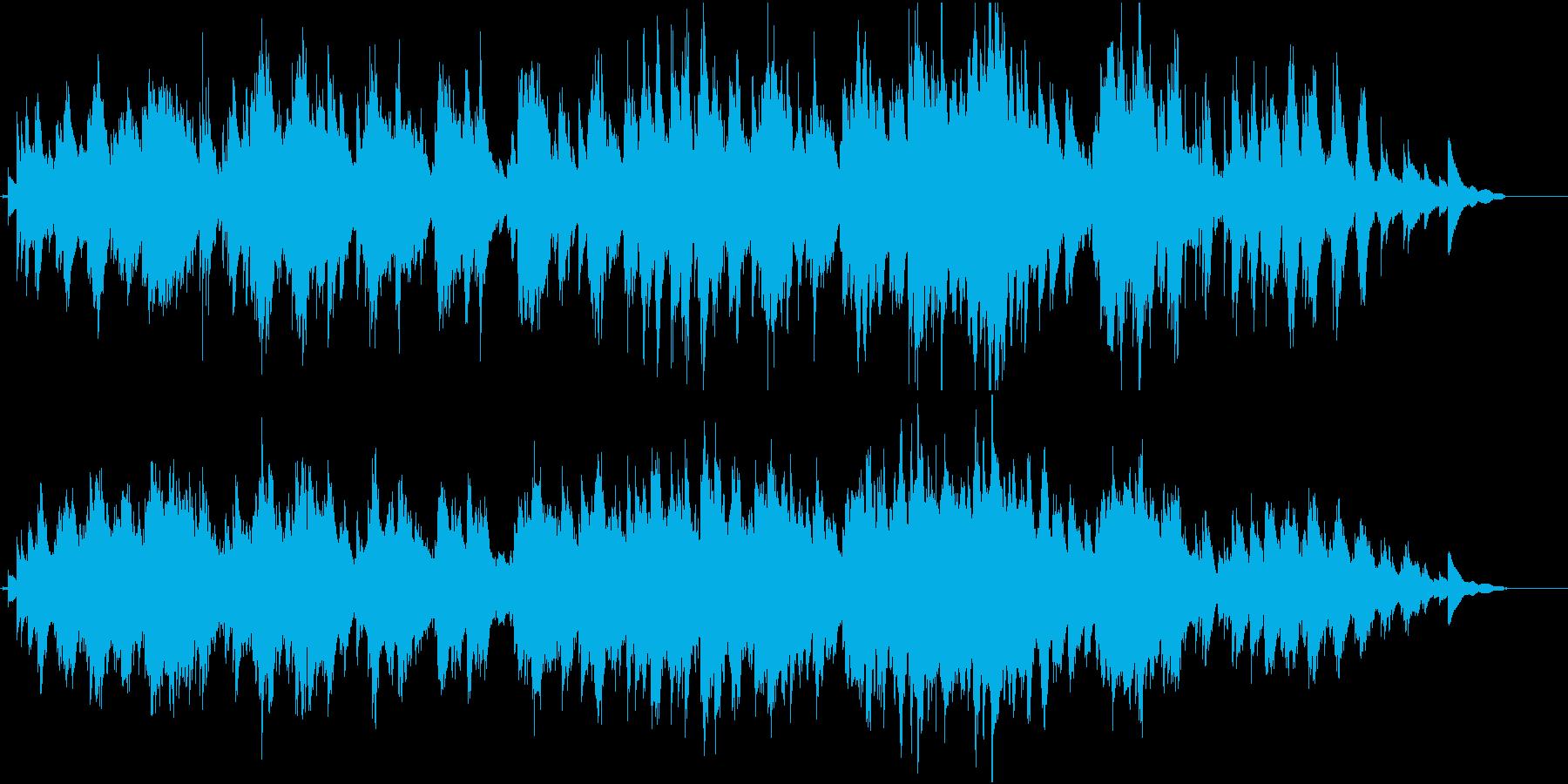 廃墟をイメージしたピアノ曲の再生済みの波形