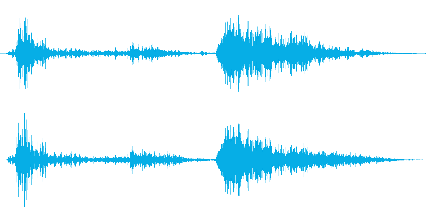 【効果音・SE】雷鳴・サンダーボルト・…の再生済みの波形