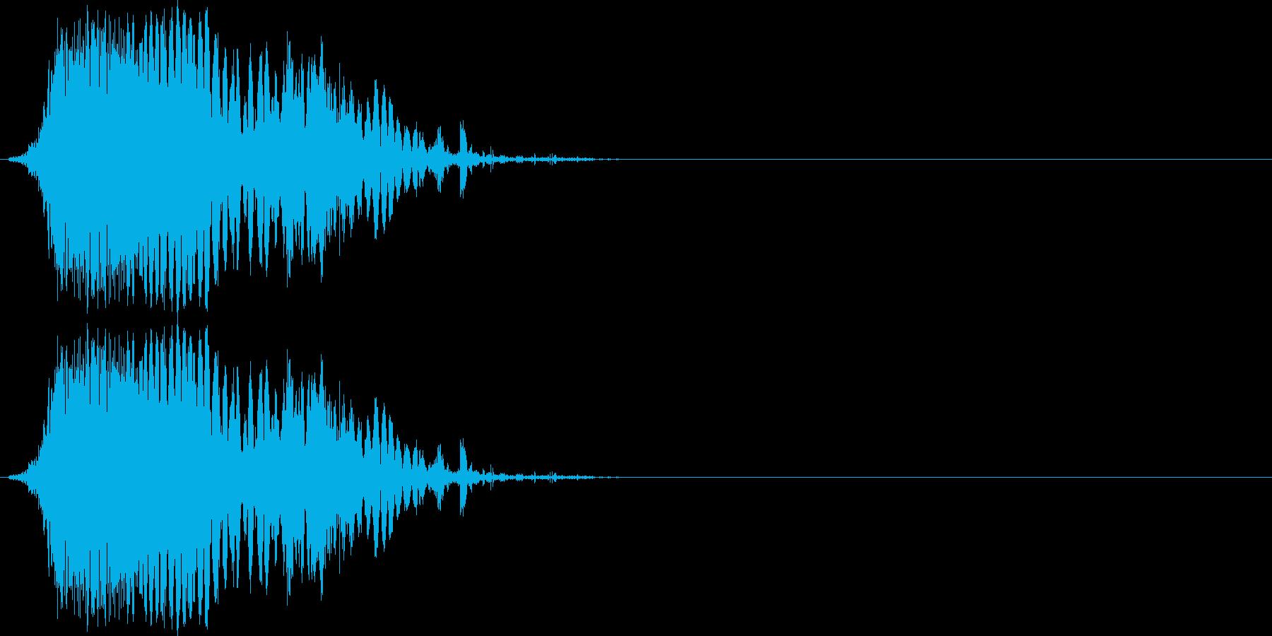 斬撃音(刀や剣で斬る/刺す効果音)10bの再生済みの波形