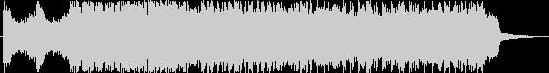 戦闘機の飛行シーン等に最適な約30秒の曲の未再生の波形