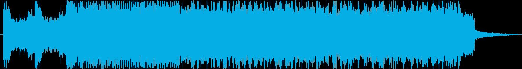 戦闘機の飛行シーン等に最適な約30秒の曲の再生済みの波形