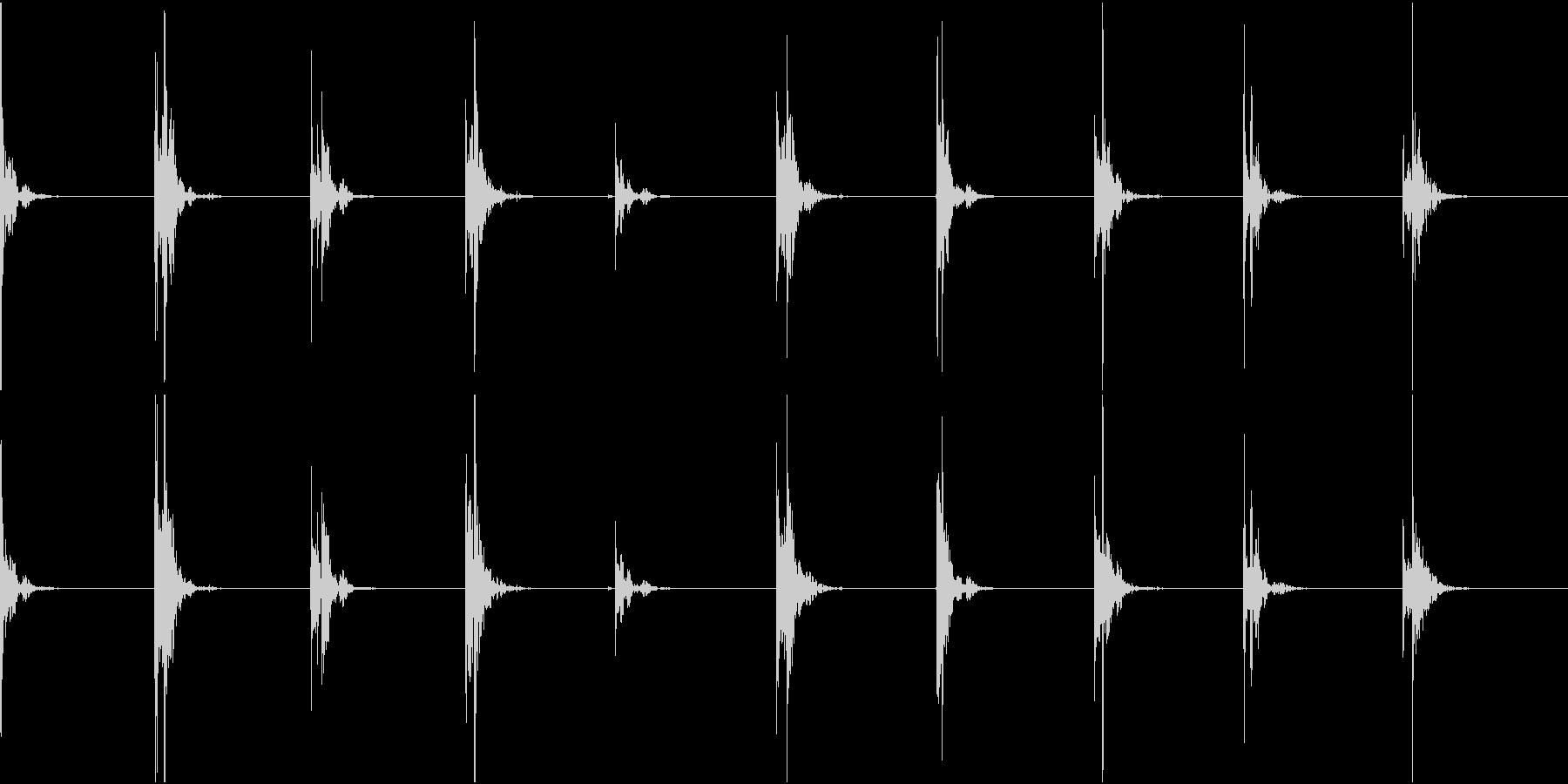 【生録音】足音1 スリッパorスニーカーの未再生の波形