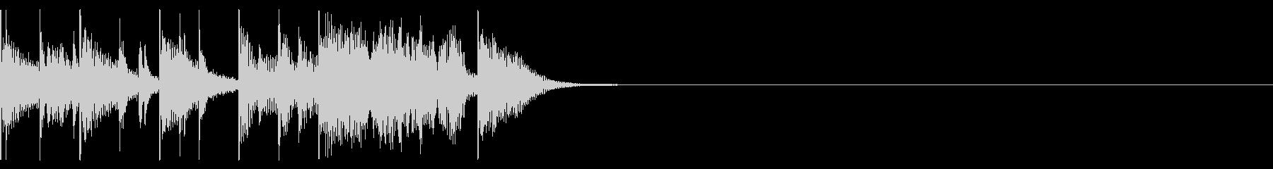 ドラムマーチ風サウンドロゴの未再生の波形
