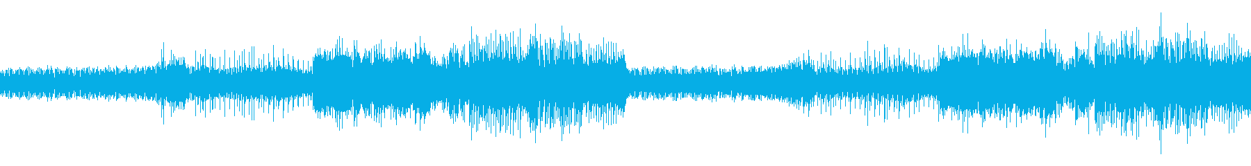 湿度の高いミステリアスなイメージのBGMの再生済みの波形
