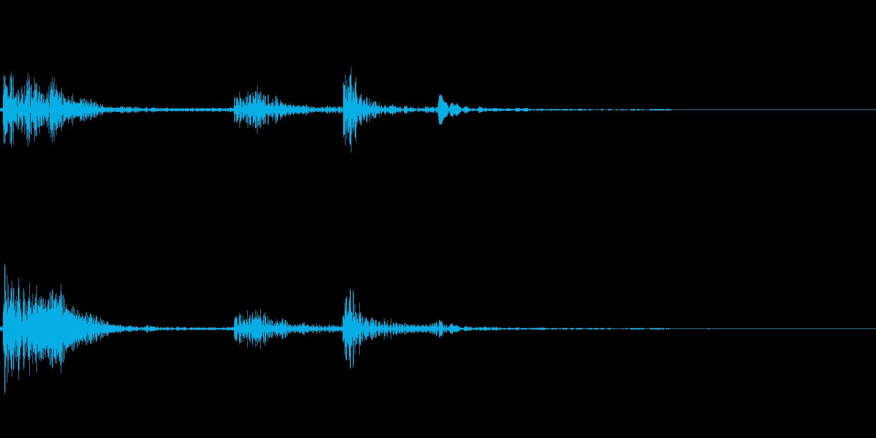 きゅうすのふたを閉めるの再生済みの波形