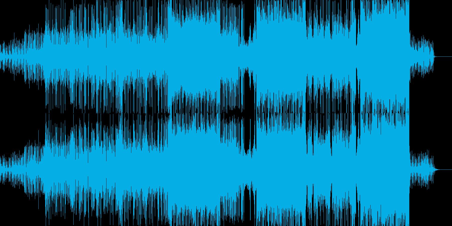 ゲームを盛り上げるエレクトロポップの再生済みの波形