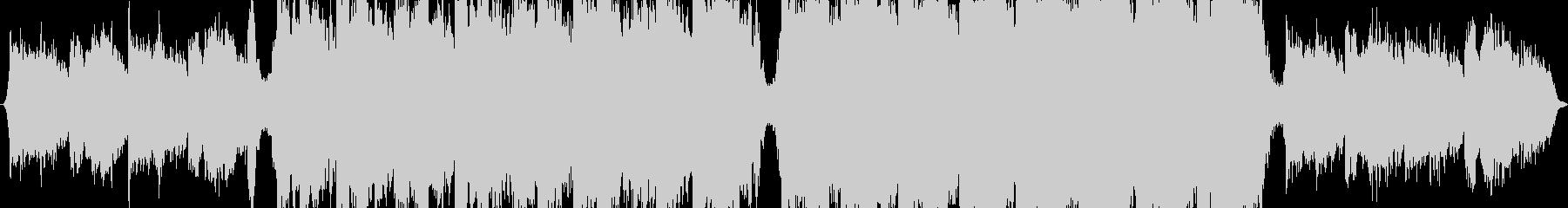オーケストラの強力な背景の未再生の波形