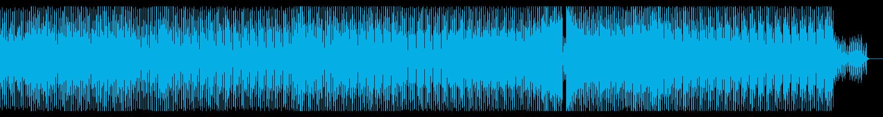 クールかっこいいシンセメロの曲の再生済みの波形