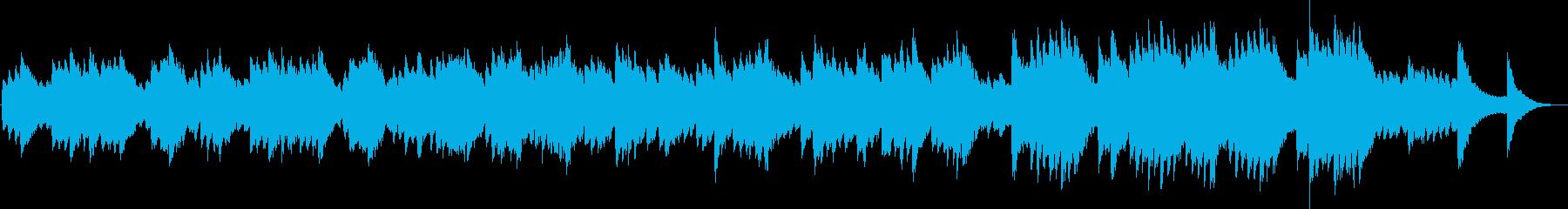 キラキラしたオルゴールの哀愁のある曲の再生済みの波形
