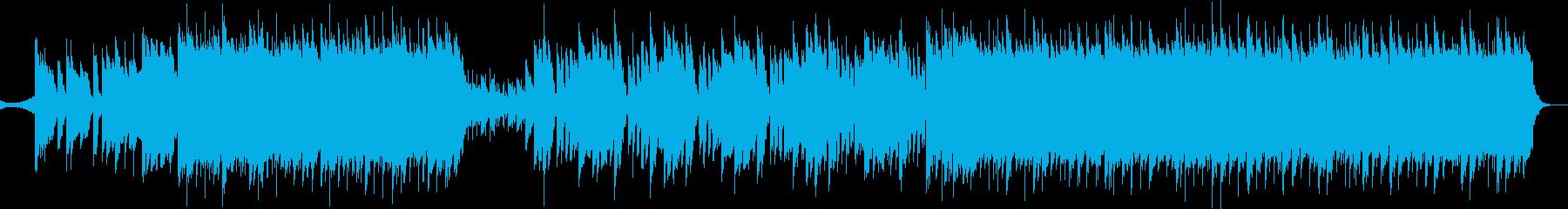 キラキラしてかわいい感じのテクノポップでの再生済みの波形