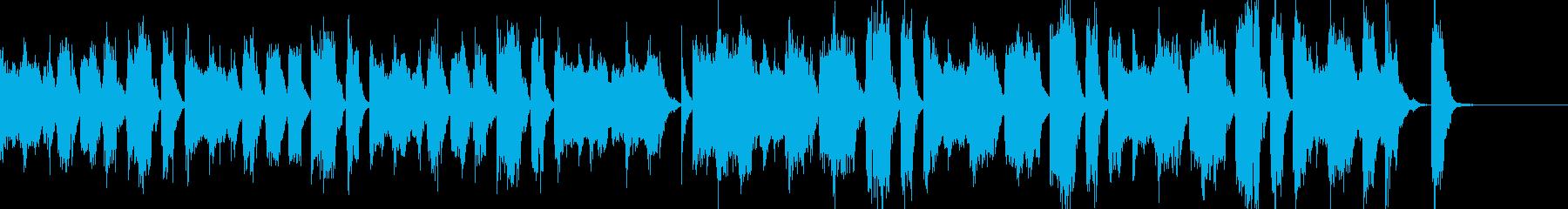 楽しい雰囲気のテクノBGMの再生済みの波形