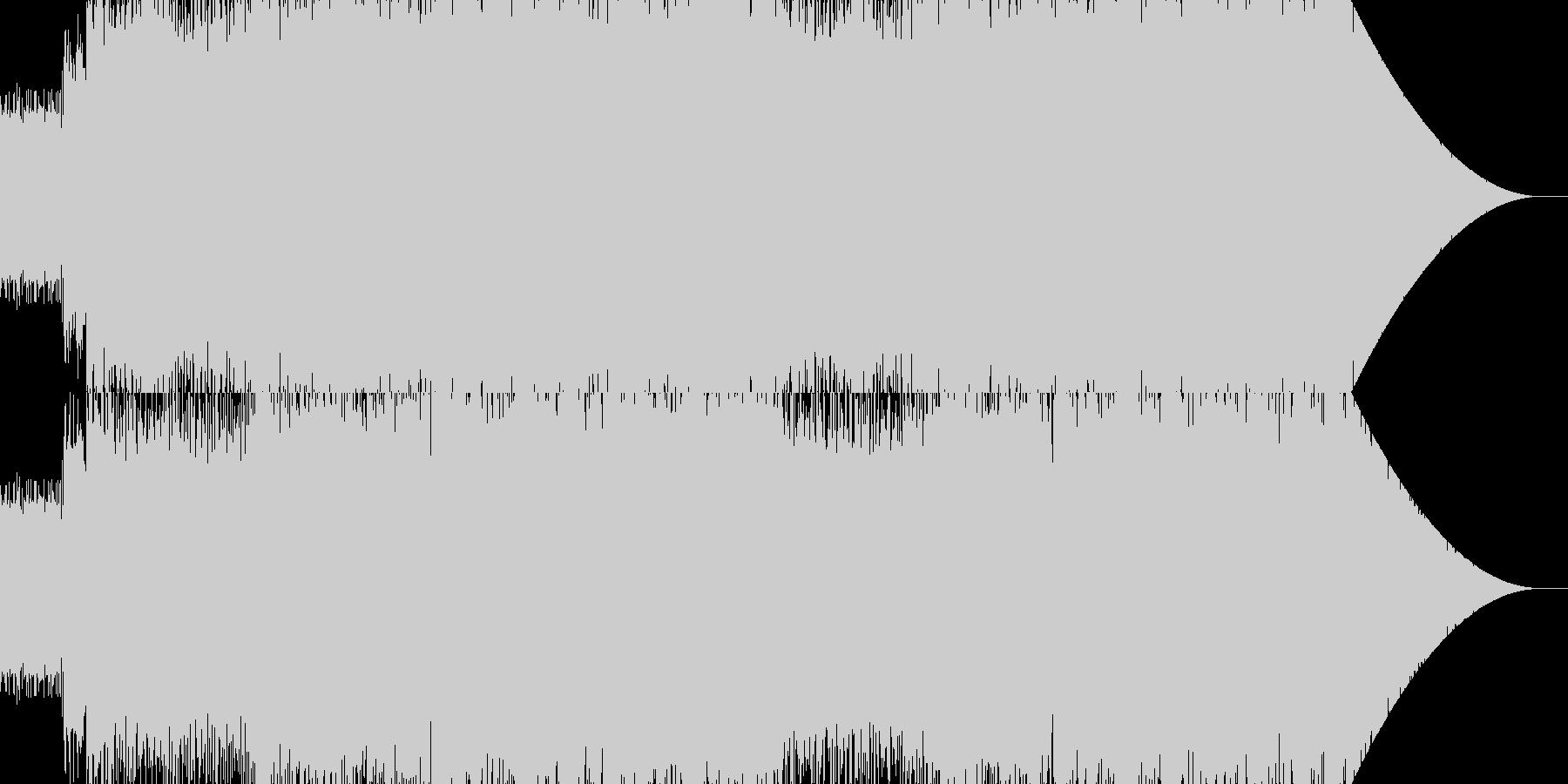 格闘ゲームキャラ選択画面ギター生ロックの未再生の波形