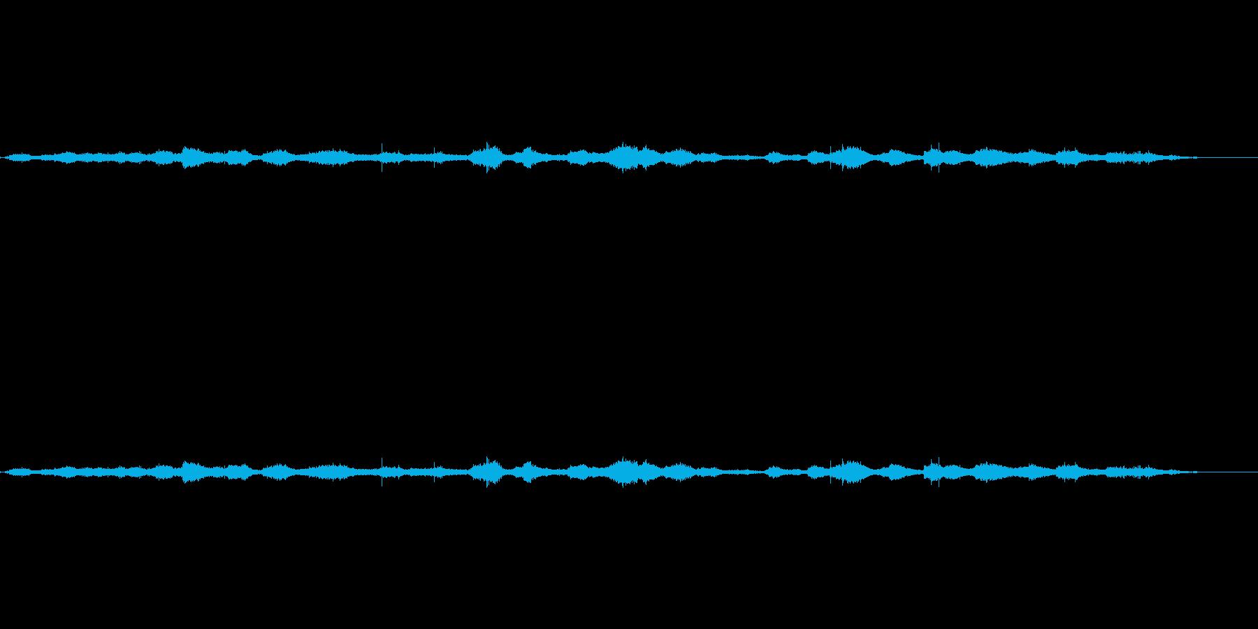 ペブルビーチの波、ローリングの再生済みの波形
