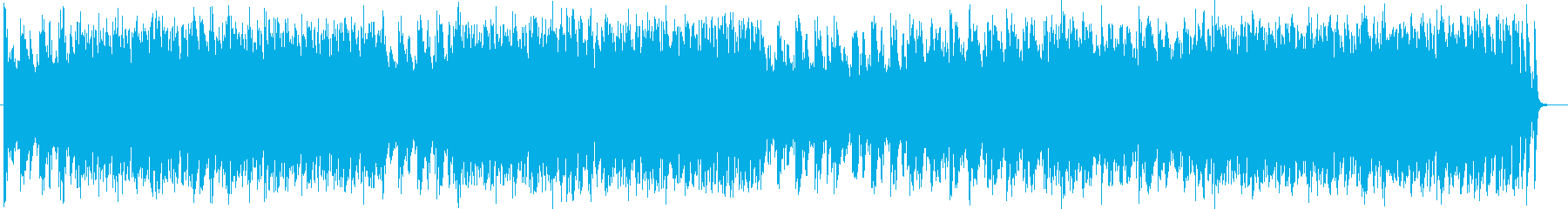 Nearly futuristic melodious synthein song's reproduced waveform