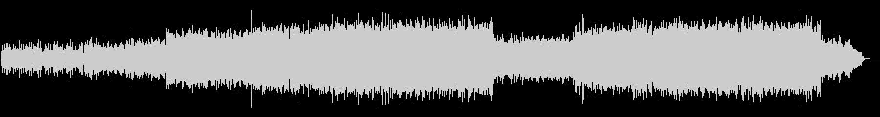 ドキドキ感のあるシンセサイザーサウンドの未再生の波形