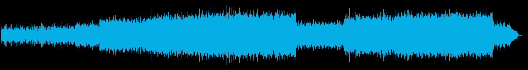 ドキドキ感のあるシンセサイザーサウンドの再生済みの波形