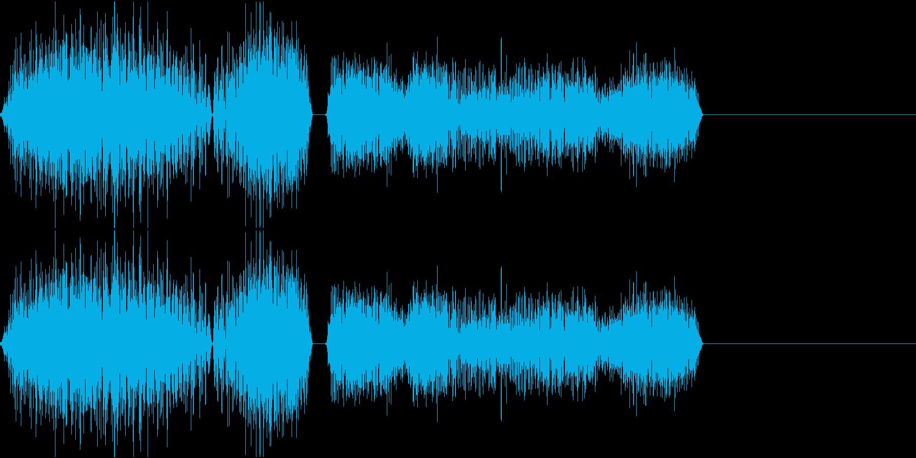 DJプレイ スクラッチ・ノイズ 104の再生済みの波形