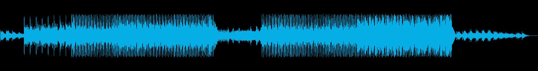 シンセリードが印象的なスローな四つ打ちの再生済みの波形