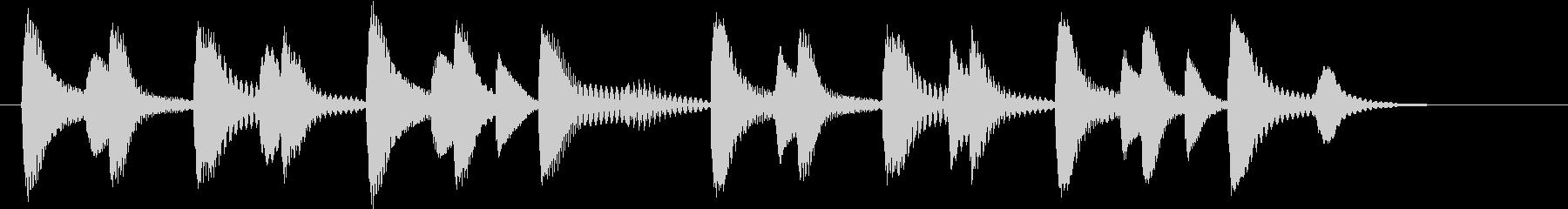 木琴のドミソのみで構成されたジングルの未再生の波形