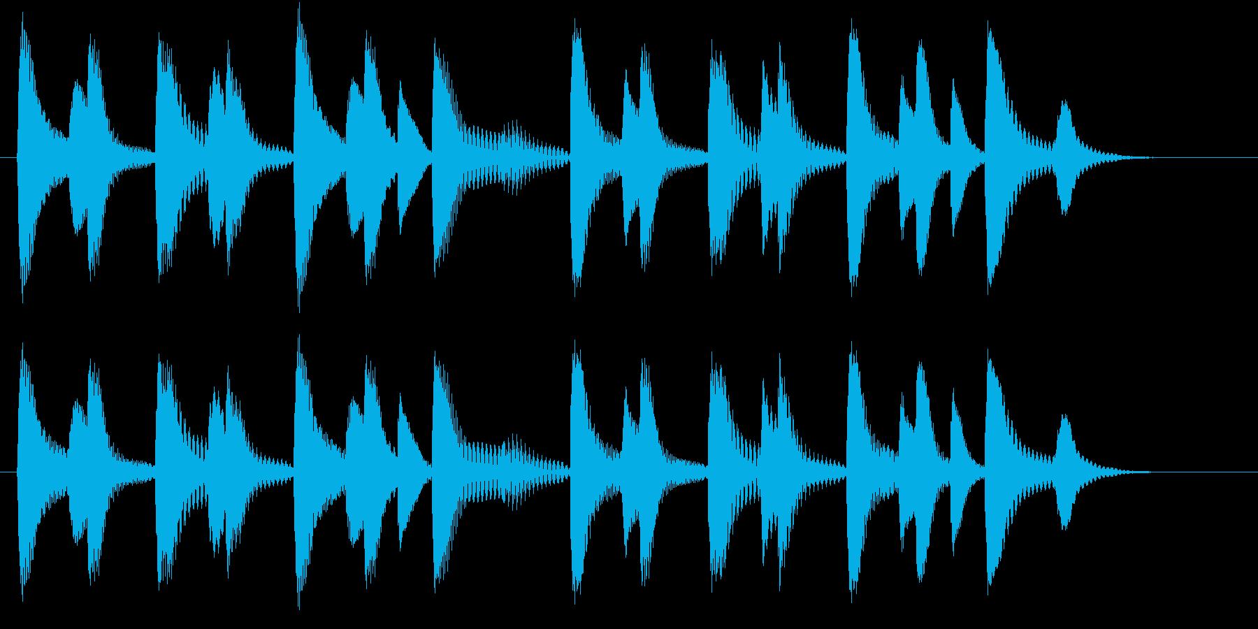 木琴のドミソのみで構成されたジングルの再生済みの波形