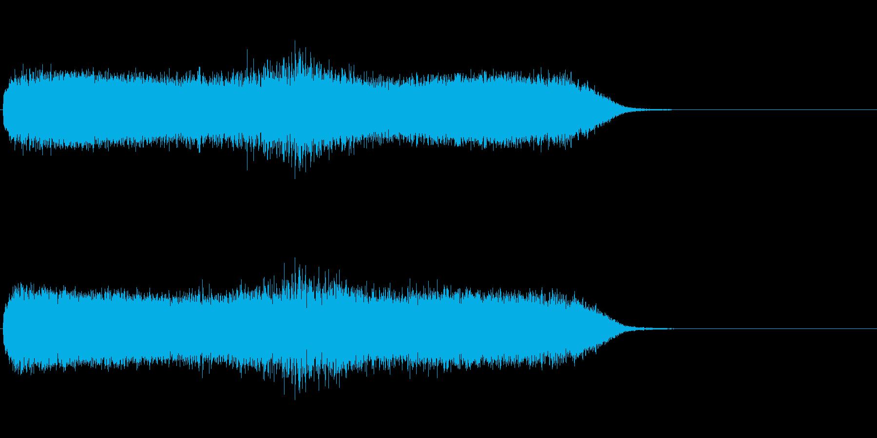 「ギューン!」レーザービーム発射4の再生済みの波形